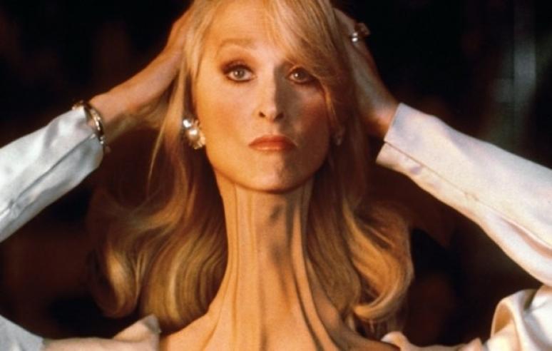 Meryl Streep a nyakát szegi, és ez nagyon vicces