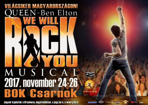 WE WILL ROCK YOU musical Budapesten!