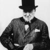 Winston Churchill profilképe