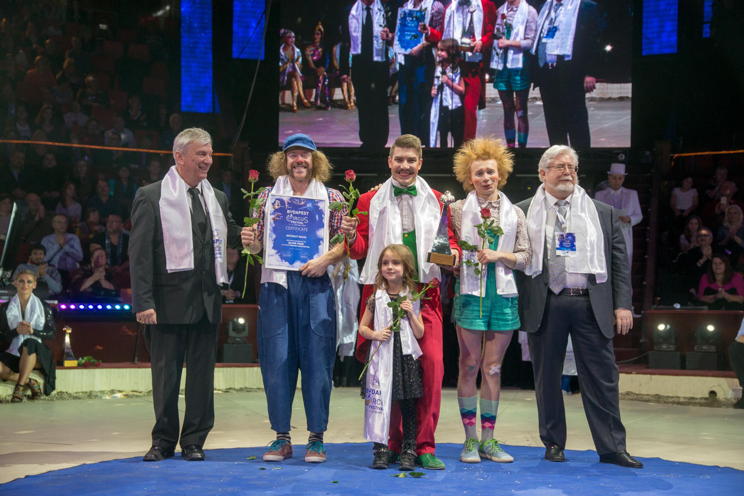 A cirkuszfesztivál díjazottjai