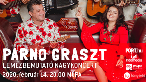 Parno Graszt lemezbemutató koncert a Müpában február 14-én!