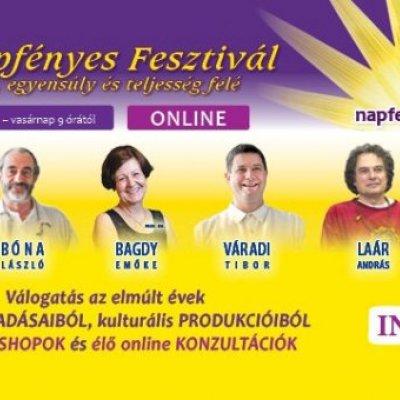 Online Napfényes Fesztivál – az egészség, egyensúly és teljesség felé