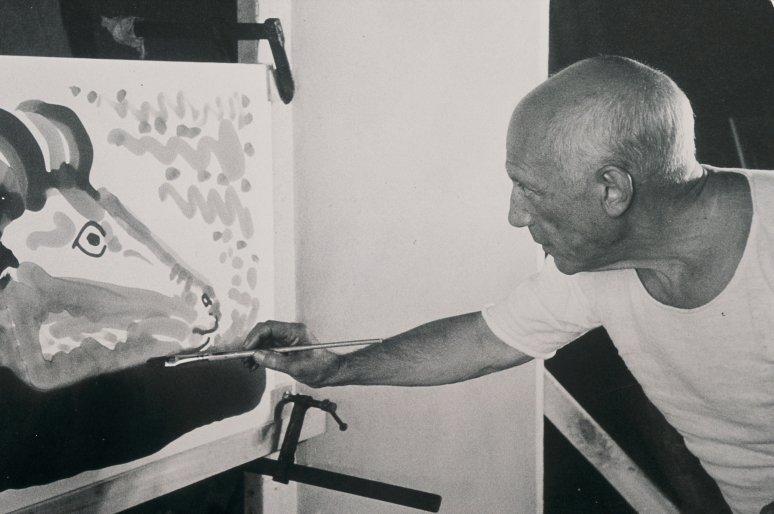 Picasso a vásznon, a mozivásznon