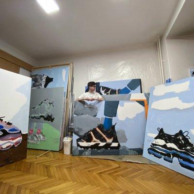 Műteremjáró séta | Dóra Ádám festőművész műterme