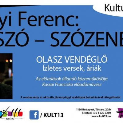 Baranyi Ferenc: Zeneszó - Szózene - Olasz vendéglő